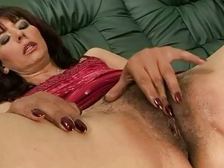 hairy grandma masturbating and getting screwed