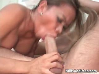 breasty oriental milf blows giant mmf hammer