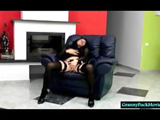 granny in hawt underware teasing and stripping a