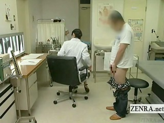 subtitled japanese doctor nurse handjob with