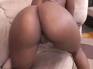 ebony kali fingers pussy and then receives a cock