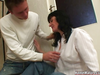 mommy in trouble taken home and fucked by a