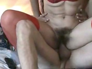 curly older redhead riding cock