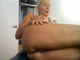 sexually excited older on cam, with many rings on