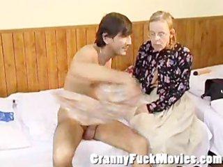 granny betsy giving jos a fine oral-sex