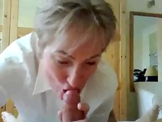 aged teacher giving blowjob and squirting