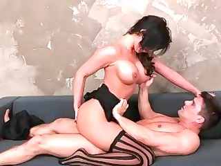 busty brunette hair milf phoenix marie riding a