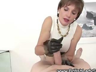 wicked brit lady sonia jerks off jock