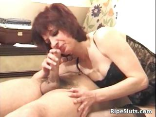 concupiscent redhead milf sucks obese cock part3