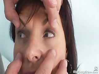 aged livie pussy scrutiny by horny kinky gyno
