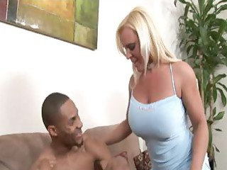 blond milf having interracial sex at home