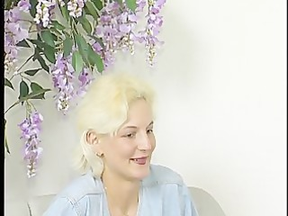 golden-haired milf receives interviewed and