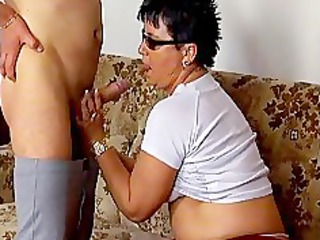sexually excited mature wife sucking dick and