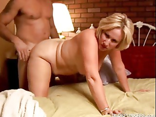 kinky older chick molly gives a sloppy rimjob