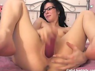 cute brunette fucking her moist pussy hard0.flv