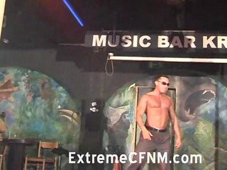 girlfriend engulfing a strippers pounder on stage