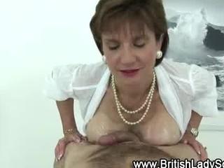 aged british lady sonia gets a cumshot
