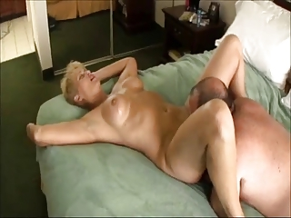 overweight guy fucking blonde aged whore