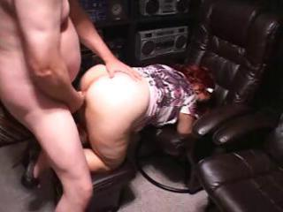 chubby redhead aged eats his knob and then bows