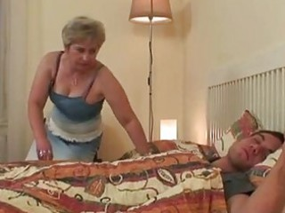 big bazookas golden-haired granny taking sw...