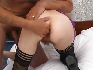 hirsute mature pussy fisted and drilled by troc