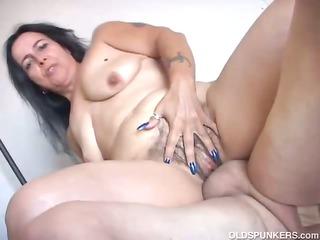 charming older chick nina enjoys a hard fucking