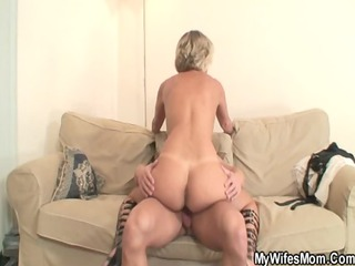 sexy mother in law enjoys dick riding