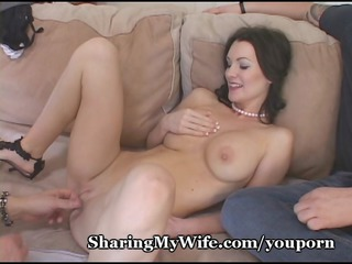 hungry wife feeds on fresh cock