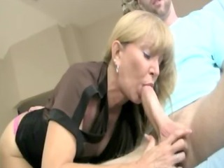 lascivious blond aged can slobbing on her boytoys