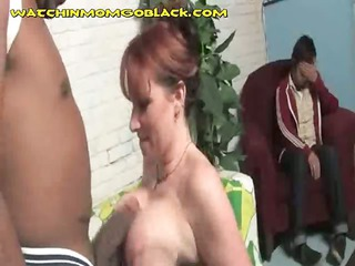 large titted mommy rides darksome cock