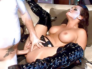 breasty mother i fucking in haunch high boots and