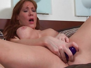 naughty golden-haired milf slut toys her hungry