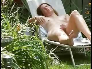 spying my cute mom masturbating in court yard