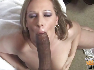 interracial gang bang with sexy white mamma