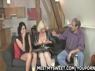 girl gets drilled by her bfs family
