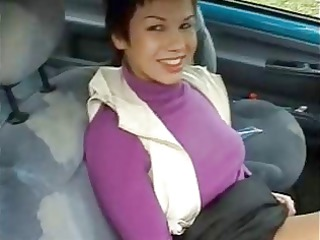 fucking his cute wife in a car by the pond !