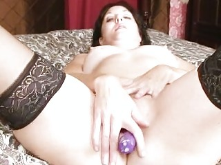dildo craving mother i pounding pussy with toy