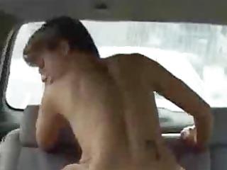 a mamma getting gangbanged in a car