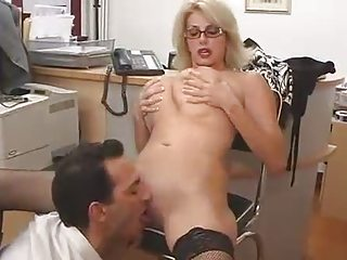 big titted mamma with her boss...f44