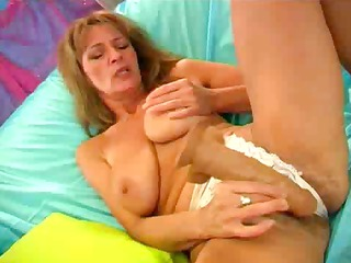 older curly love tunnel being shown while she