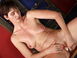 hot granny masturbating in billard room