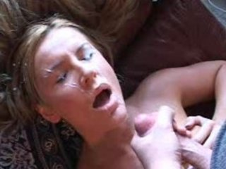 wife takes a facial then sucks his jock clean