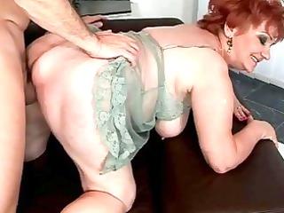 corpulent grandma enjoying naughty sex