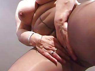 chubby grandma in pantyhose