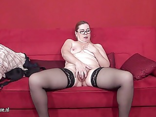 next door dilettante housewife playing with her