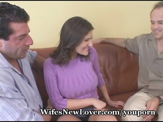 wife shows wimpy hubby her new paramour