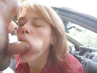mother i getting a facial cum in public