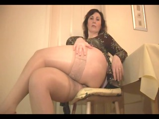 big mambos older honey in nylons and satin slide