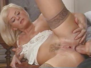 sexy italian milf enjoys double penetration by