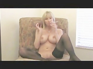 hot mif smokes & plays for her son